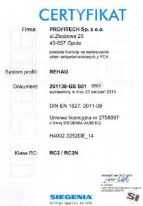 Certyfikat RC2 dla Profitech